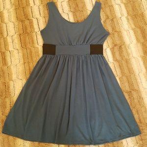 b1a2e411a9 Planet Gold Couture Blue Tank Dress